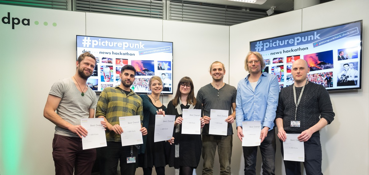 dpa-Hackathon #PicturePunk: Visionäre Projekte zum Thema Bild